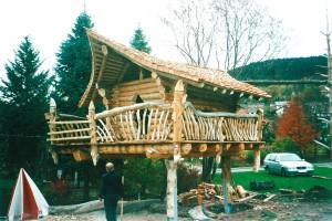Blockhaus aus Lothar-Sturmholz BECK Zimmerei