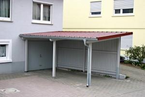 Angebauter Holzcarport BECK Zimmerei