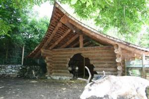 Erste Rundholzbauten BECK Zimmerei