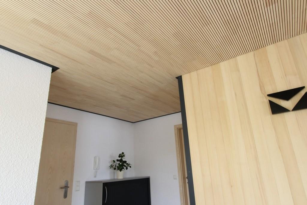 b ro mit lignotrend akustikdecke und wei tanne beck zimmerei. Black Bedroom Furniture Sets. Home Design Ideas